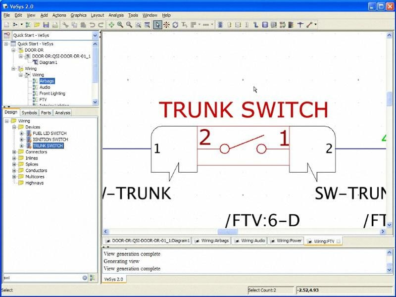 Electrical Design using VeSys