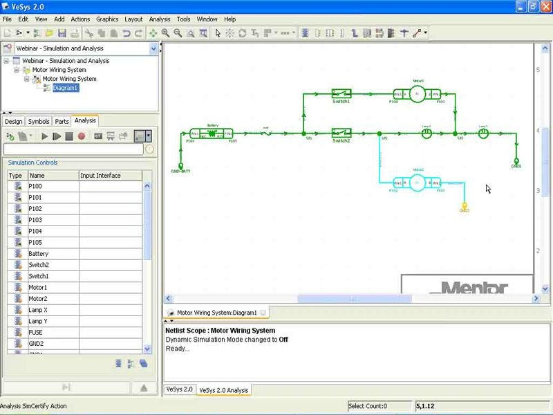 Advanced electrical analysis and simulation using VeSys