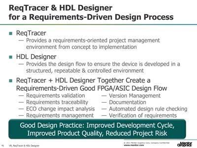 ReqTracer + HDL Designer