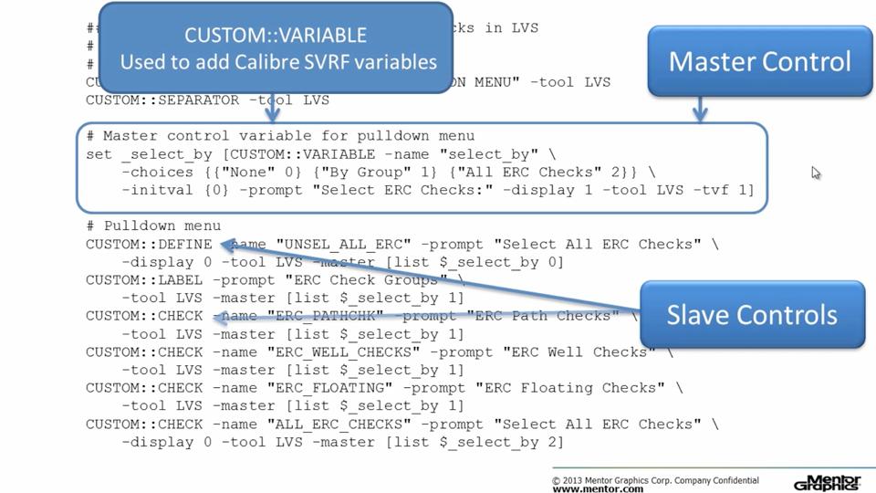 Selecting ERC Checks in Calibre Interactive