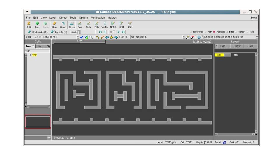 Debugging double patterning results using Calibre RealTime