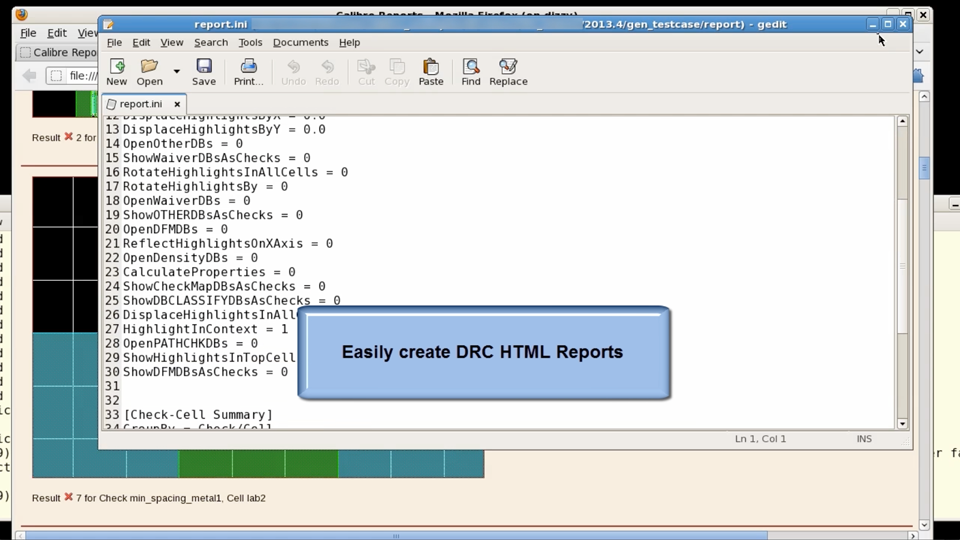 How to easily create DRC HTML Reports from the Calibre Interface