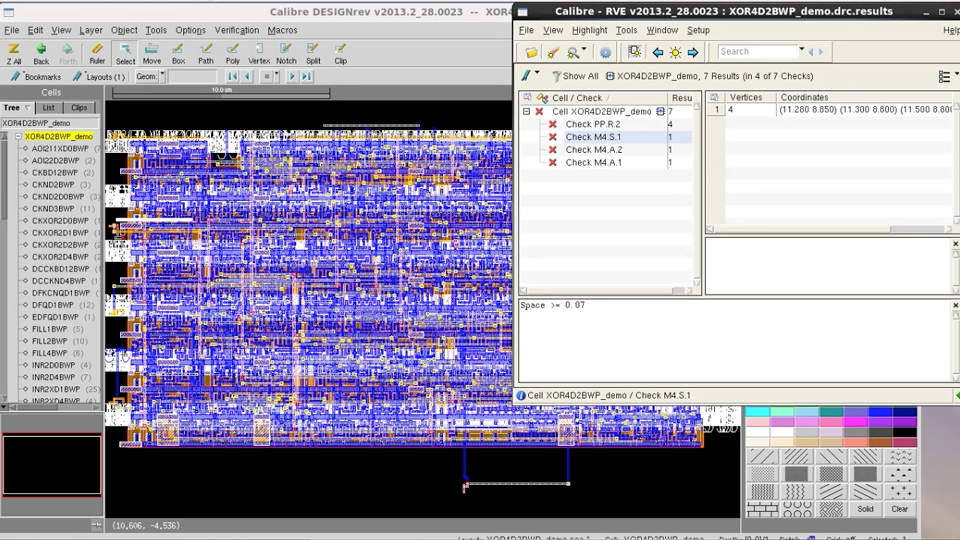 Waiving DRC results using Calibre RVE