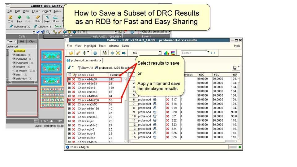 How to save a subset of DRC results as an RDB for fast and easy sharing