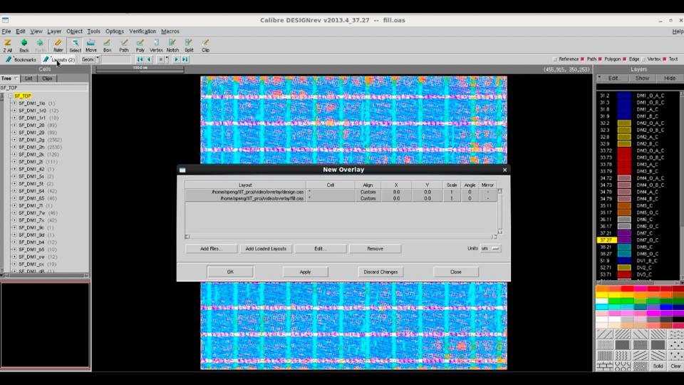 Using Visualize and Merge Fill and Design Data in Calibre DESIGNrev