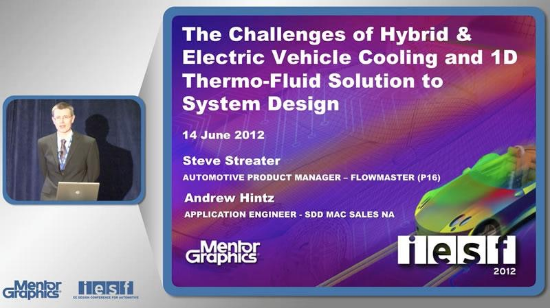 The Challenges of Hybrid & Electric Vehicle Cooling and 1D Thermo-Fluid Solution to System Design