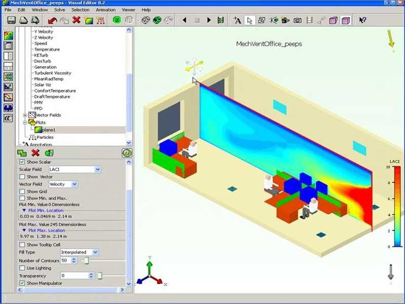 How to Analyze a Mechanical Office Ventilation System using CFD