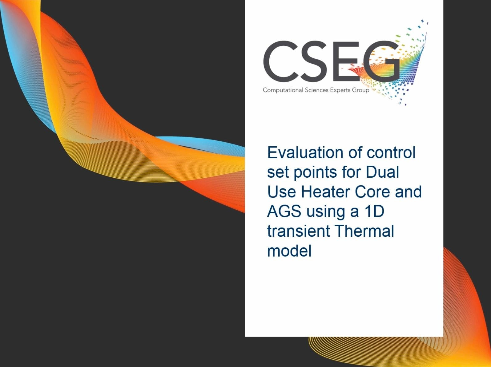 Evaluation of Control Set Points for Dual Use Heater Core and Active Grille Shutter (AGS) Systems Using 1D CFD Vehicle Thermal Modeling