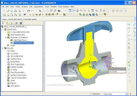 FloEFD Demonstration: Ball Valve Simulation