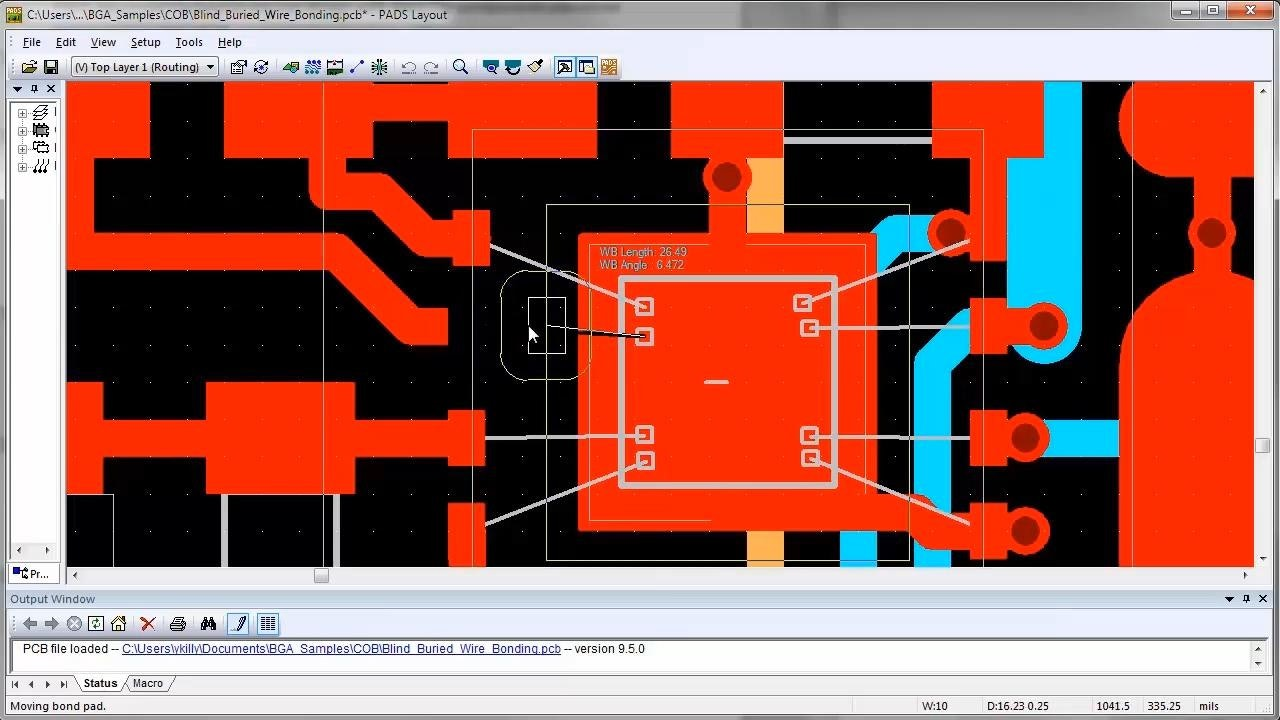 PADS Advanced Packaging Demonstration: Designing with Bare Die Components