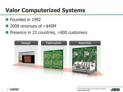 Valor Joins Mentor Graphics