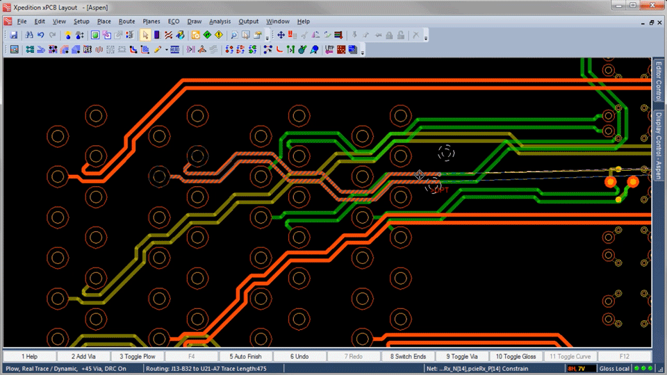 High-speed routing: High-speed PCB routing for tuning high-speed connections