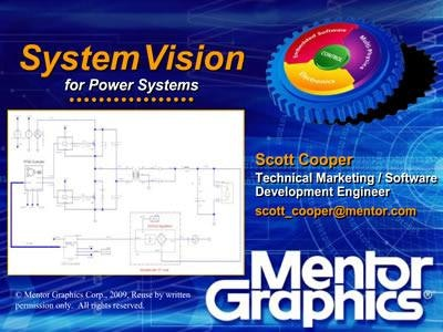 Power System Integration with SystemVision
