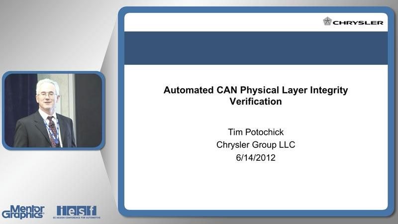 Automated CAN Physical Layer Signal Integrity Verification