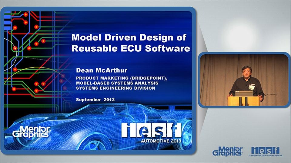 Model Driven Development of Reusable Electronic Control Software