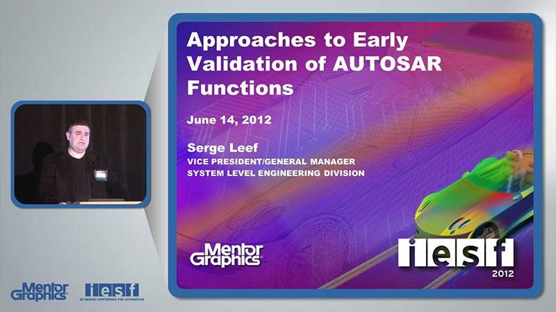 Approaches to Early Validation of AUTOSAR Functions