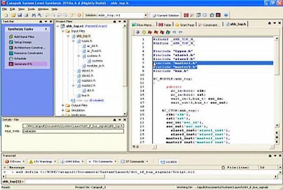 Catapult C/C++/SystemC