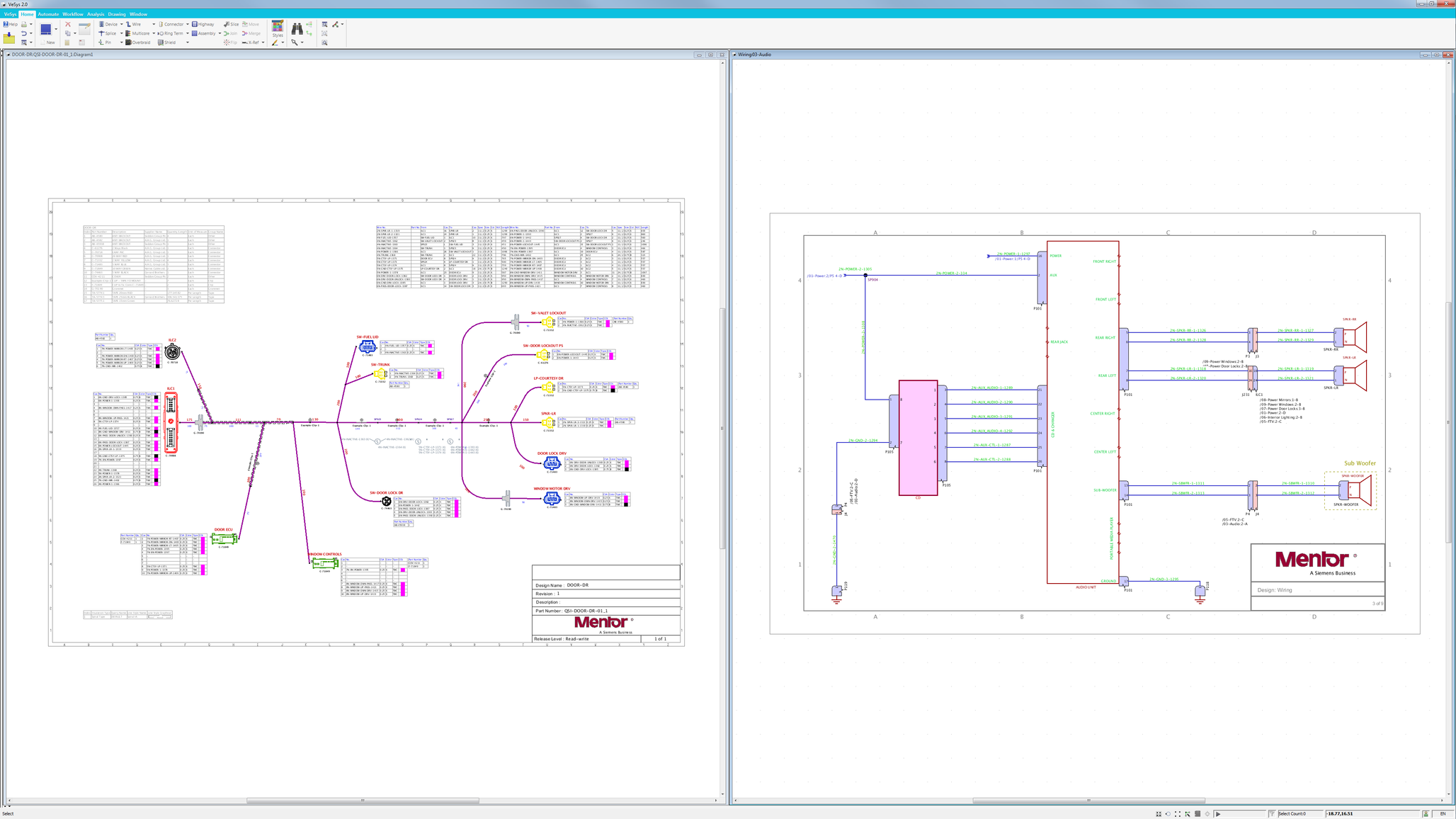 Vesys Electrical And Wire Harness Design Mentor Graphics