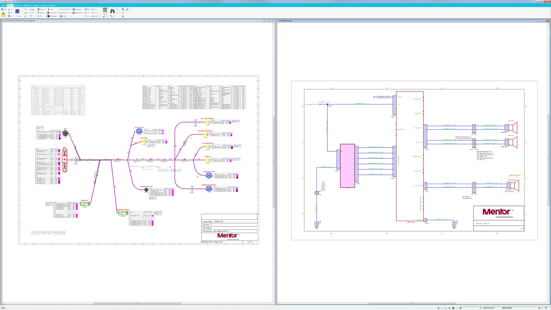 Vesys-Electrical and Wire Harness Design - Mentor Graphics capital harness xc Mentor Graphics