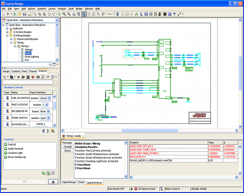 Automotive Wiring Diagram Drawing Software : Capital logic circuit design mentor graphics