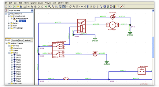 Automotive Wiring Diagram Drawing Software : Vesys design mentor graphics