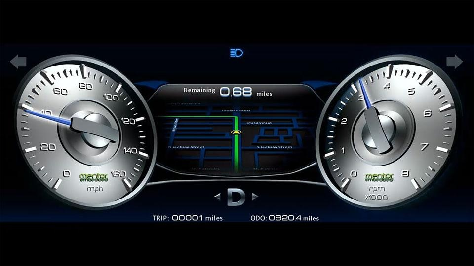 3d Automotive Instrument Cluster Hmi Mentor Graphics