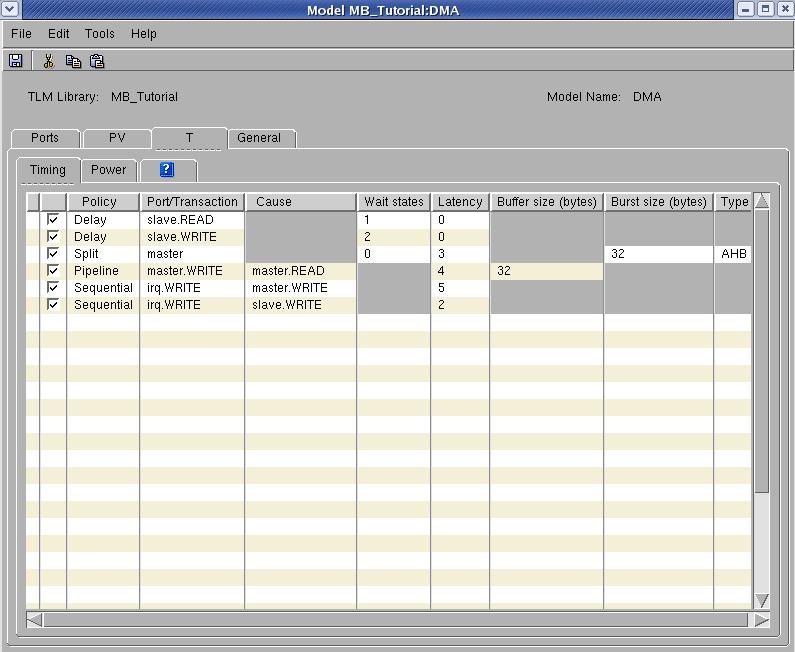 Vista Model Builderタイミングポリシー