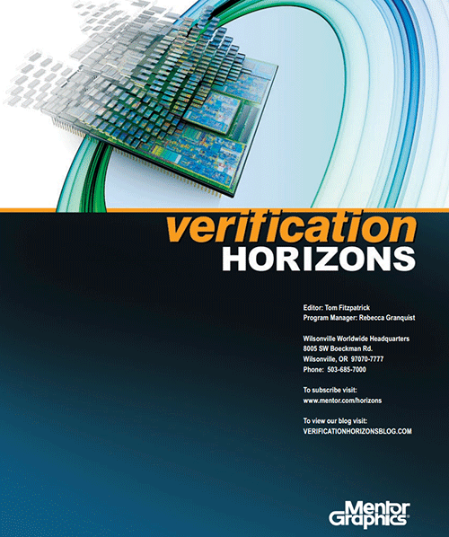 Verification Horizons Newsletter Mentor Graphics