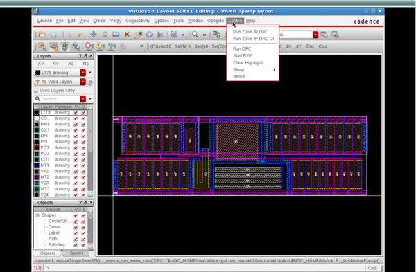 Running Calibre in Cadence Virtuoso using a single mouse