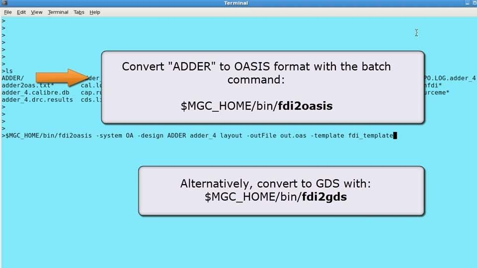 How to convert an Open Access database to GDSII or OASIS