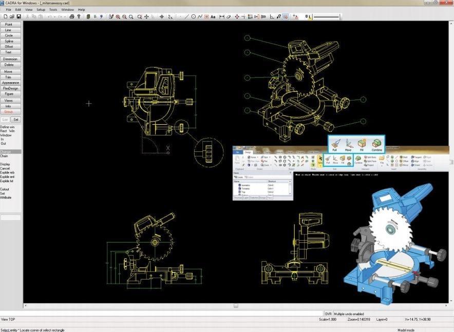 Cadra 2 1 2d Mechanical Design And Drafting Software Mentor