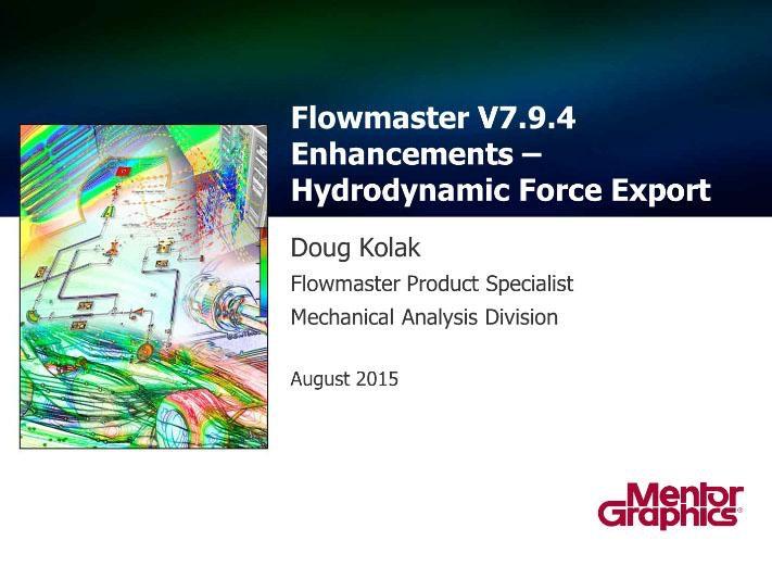 Flomaster V7 9 4 Enhancements  U2013 Hydrodynamic Force Export