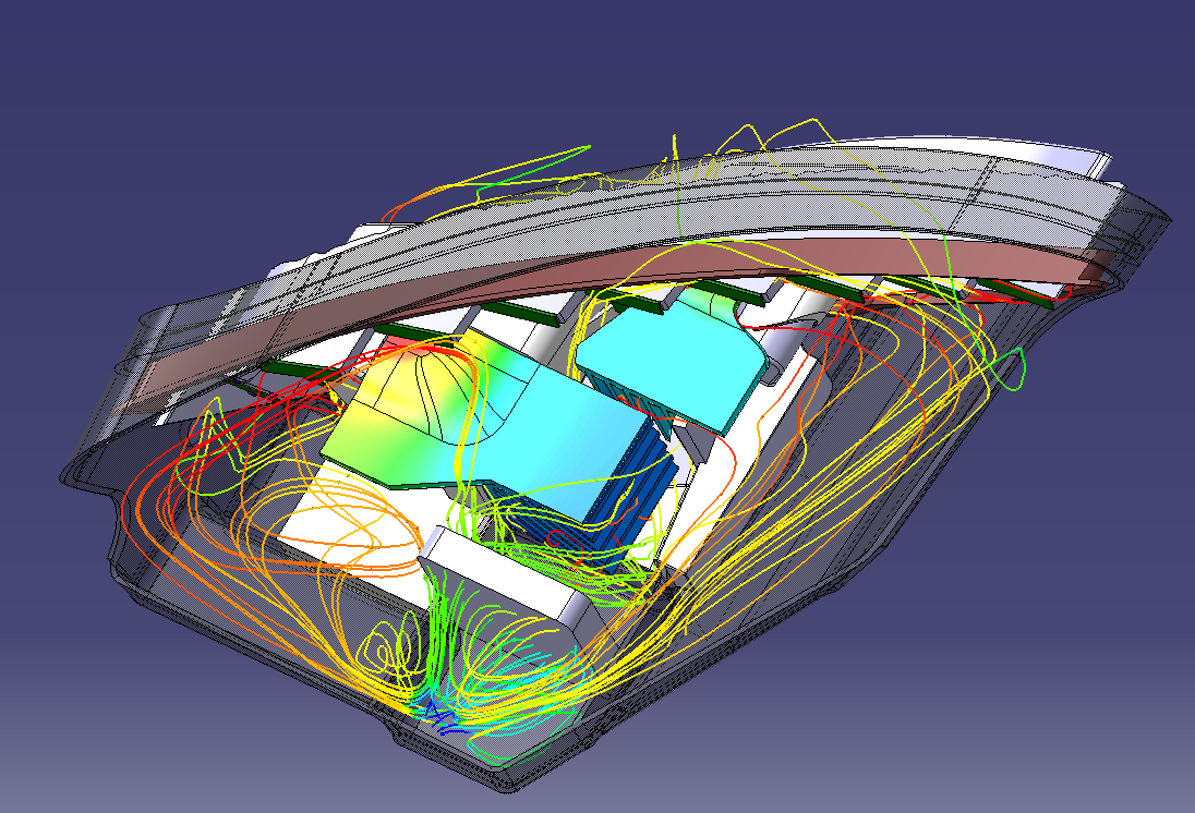 lighting the way development of the bertrandt led headlight thermal simulation and design