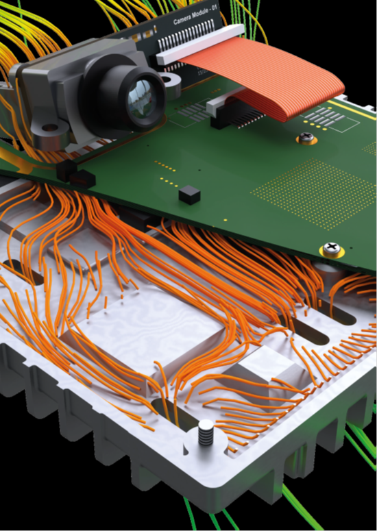 Thermal Analysis of an ADAS Camera in FloTHERM XT - Mentor