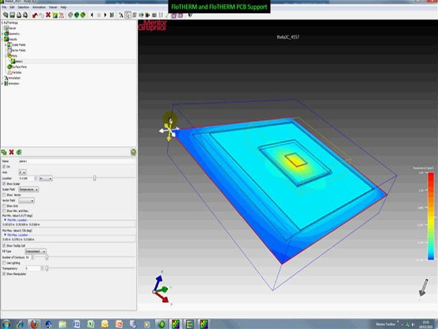 FloTHERM ICのデモ – 半導体パッケージモデルの熱特性をオンラインソフトウェアで評価