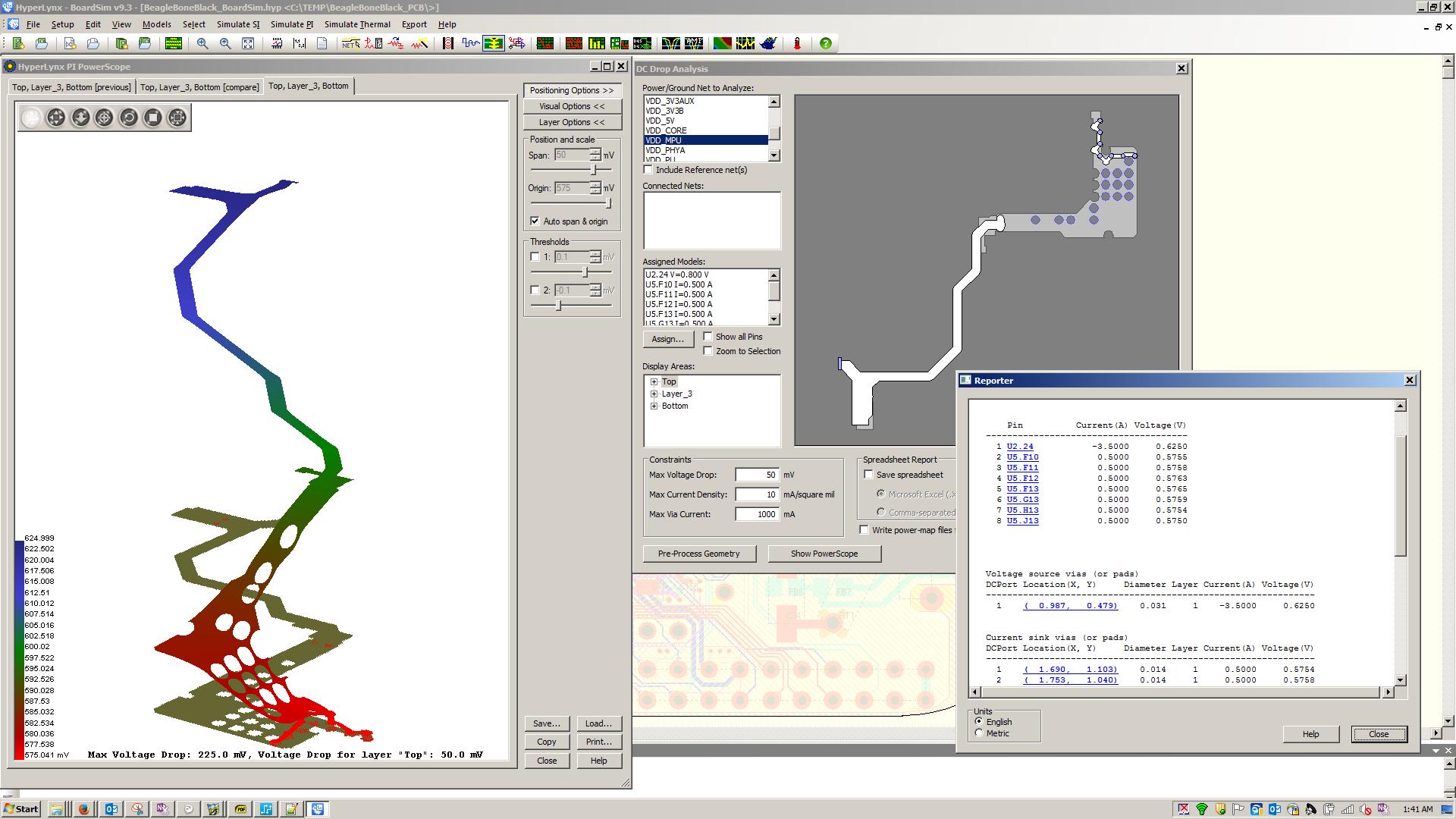 Extend Pads Technology Mentor Graphics Circuit Wizard 1 General View Screenshots For 2 0 Hyperlynx Dc Drop