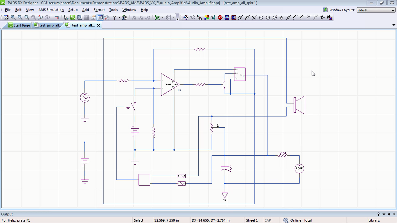 Pads Pcb Design Software Mentor Graphics Designing Digital Circuit Analog Mixed Signal Simulation