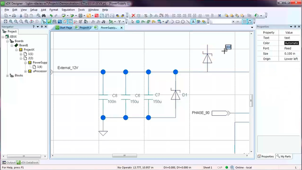 Creating schematics using xDX Designer in the PADS Standard