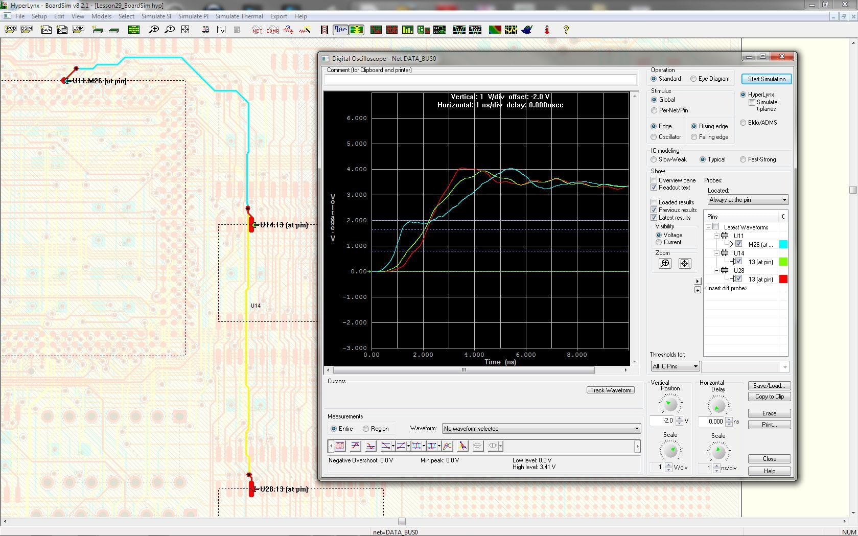 Pads Standard Simulation And Analysis Mentor Graphics Re Analog Comparator Circuit Signal Integrity