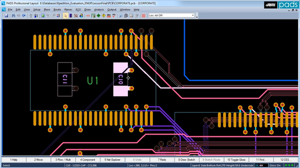 PCB Layout Selection and Editing - Mentor Graphics