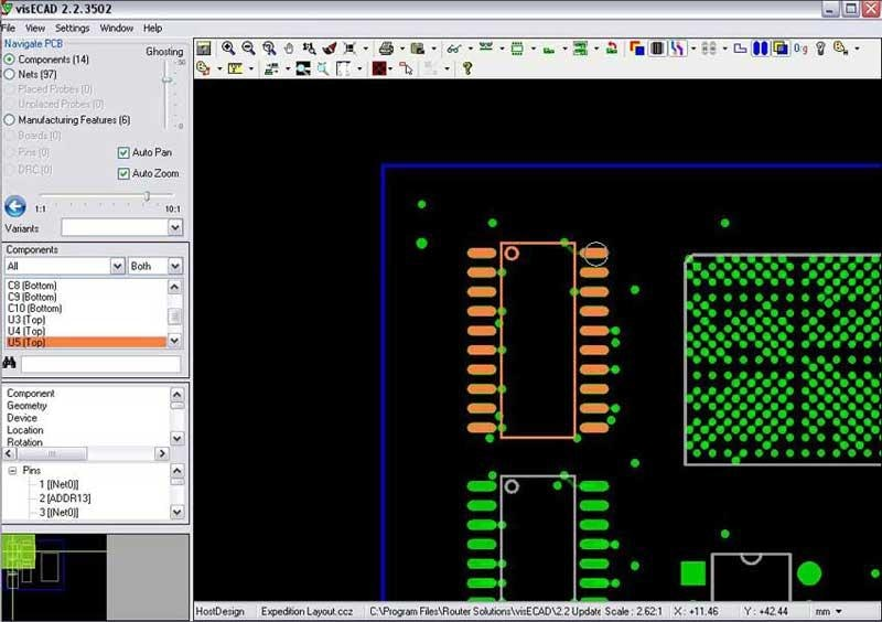 visECAD Viewer Demonstration - Mentor Graphics