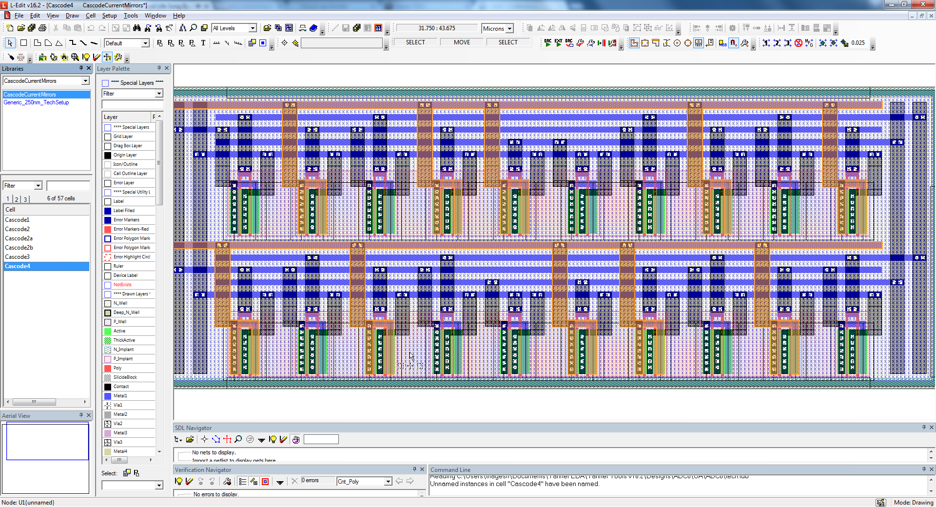 Tanner L-Edit IC Layout - Mentor Graphics