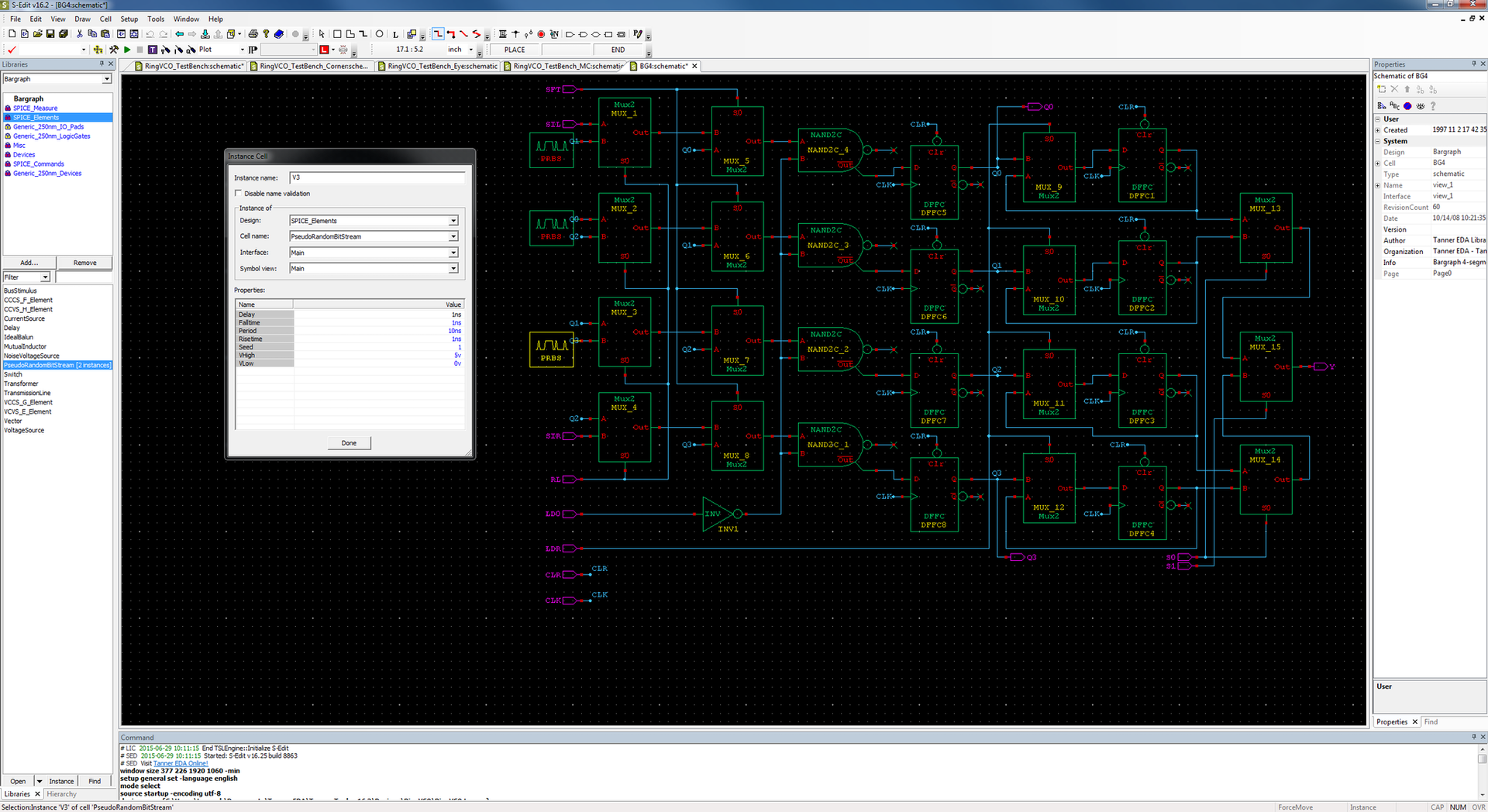 Tanner S-Edit Schematic Capture - Mentor Graphics on logic synthesis, electronic design automation, digital electronics, schematic editor,