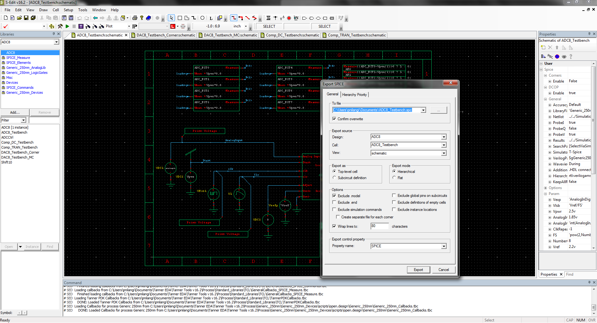 Tanner S-Edit Schematic Capture - Mentor Graphics on digital electronics, logic synthesis, electronic design automation, schematic editor,