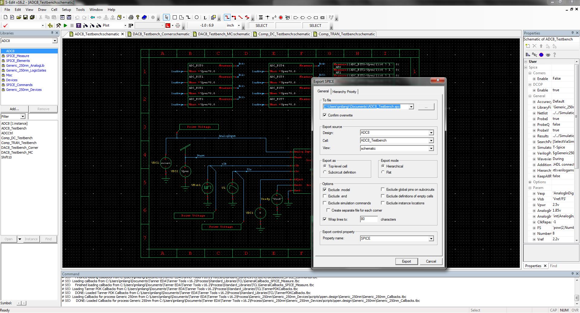 Tanner S-Edit Schematic Capture - Mentor Graphics