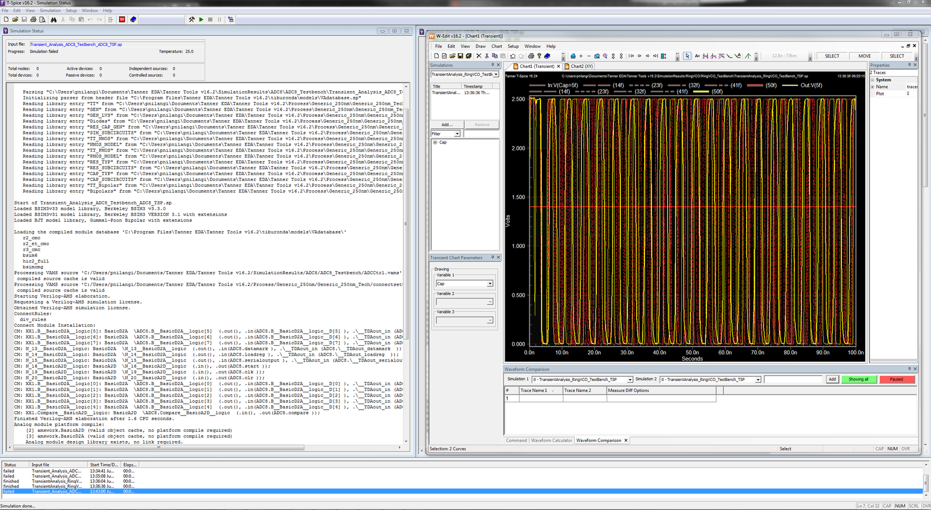 Tanner Waveform Viewer - Mentor Graphics